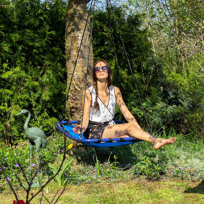 Balançoire nid d'oiseau carrée Relaxdays 10020821