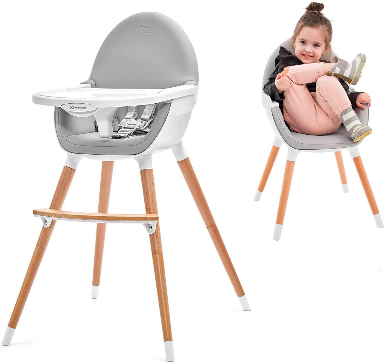 Chaise haute scandinave 2 en 1 Kinderkraft