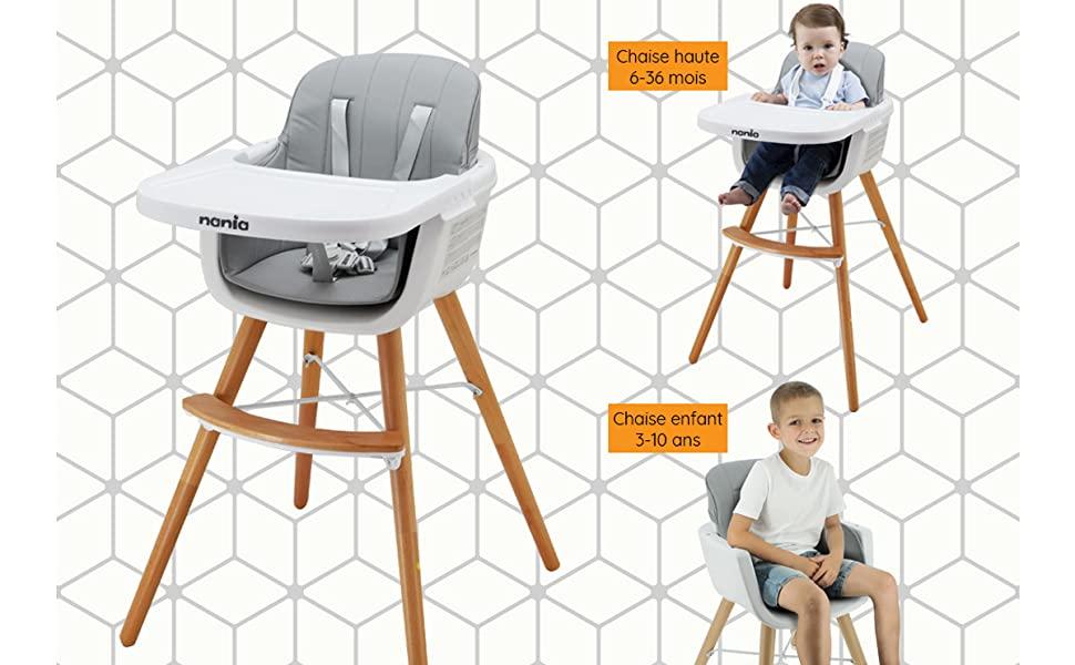 chaise haute scandinave évolutive
